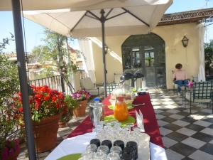 Rome terrace breakfast