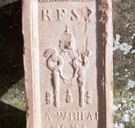 brick from the Holy Door received  when acting as volunteer guide in St. Peter's 1975