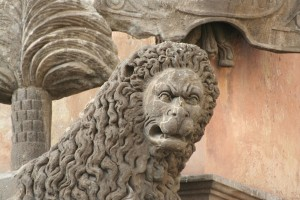 Lion symbol of Viterbo