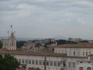 mt. soratte from Quirinale