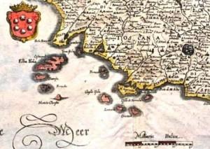 Foto 4  particolare  della carta del 1665 Joan Blaeu  Stato della Chiesa con la Toscana 1665 in esposizione.jpg_650