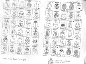 Coat of arms of Popes from 1389 to 1963