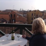 altana and view of Venice