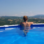 pool and view over Umbria
