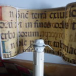 inside view of  parchment lampshade