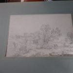 17th century pencil,ink sketch